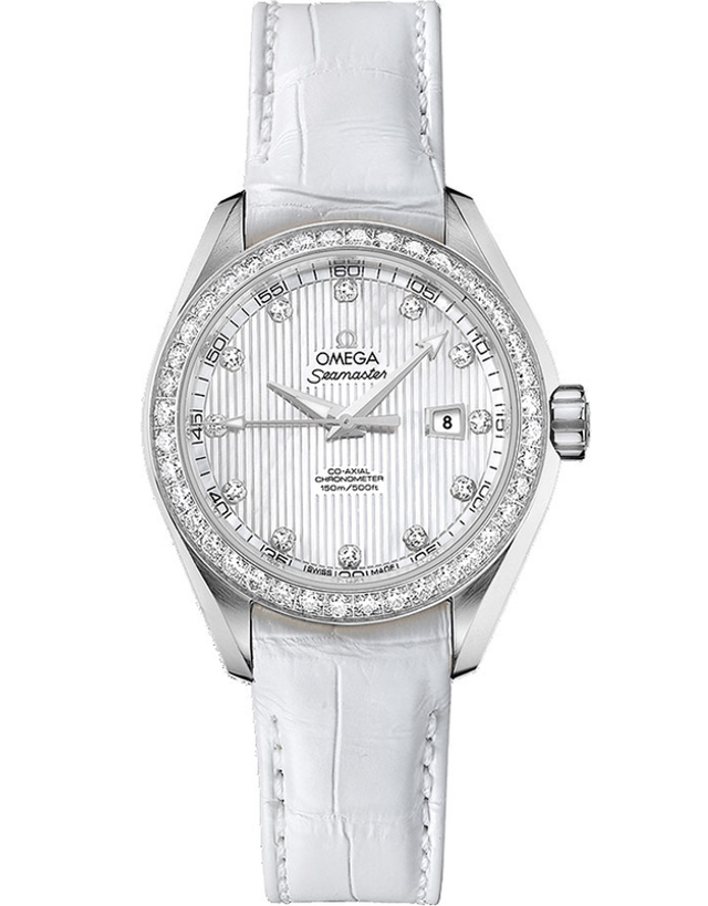OMEGA AQUA TERRA LADIES AUTOMATIC 34MM LADIES WATCH