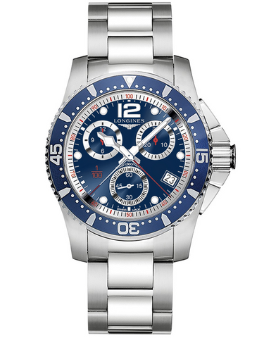 Longines Hydroconquest Quartz Chronograph 41mm Blue Dial Men's Watch