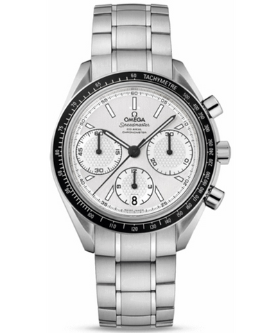 OMEGA SPEEDMASTER RACING CHRONOMETER SILVER CHRONOGRAPH DIAL STEEL MEN'S WATCH