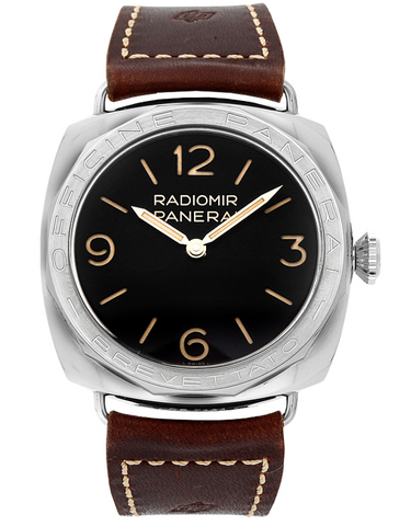 Panerai Radiomir 3 Days Special Edition 47mm Black Dial Brown Leather Men's Watch