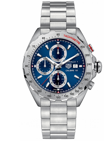 Tag Heuer Formula 1 Automatic Chronograph Blue Dial Steel Men's Watch