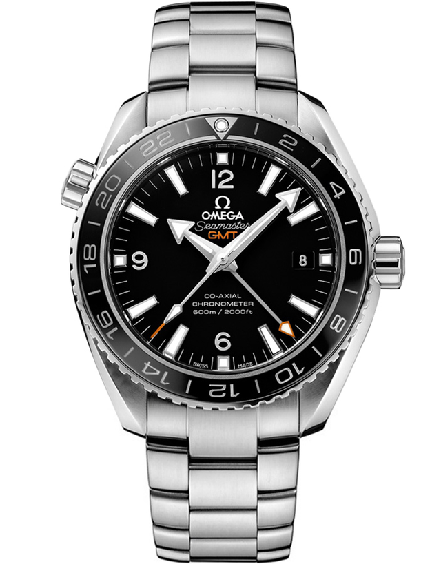 Omega Seamaster Planet Ocean 600m GMT 43.5mm Black Dial Steel Men's Watch