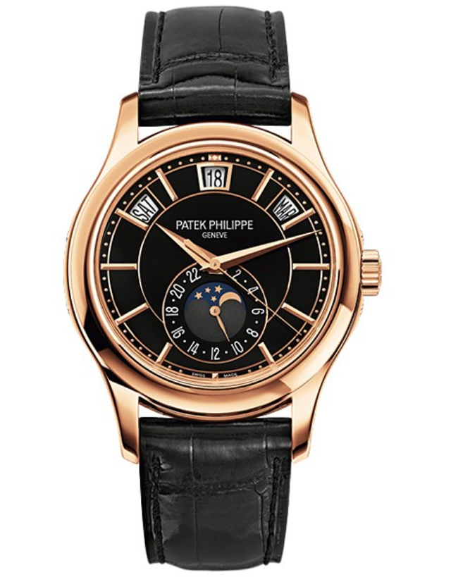 Patek Philippe Complications 18k Rose Gold Black Automatic Men's Watch