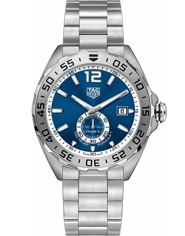 TAG HEUER FORMULA 1 AUTOMATIC CALIBRE 6 BLUE DIAL STEEL MEN'S WATCH