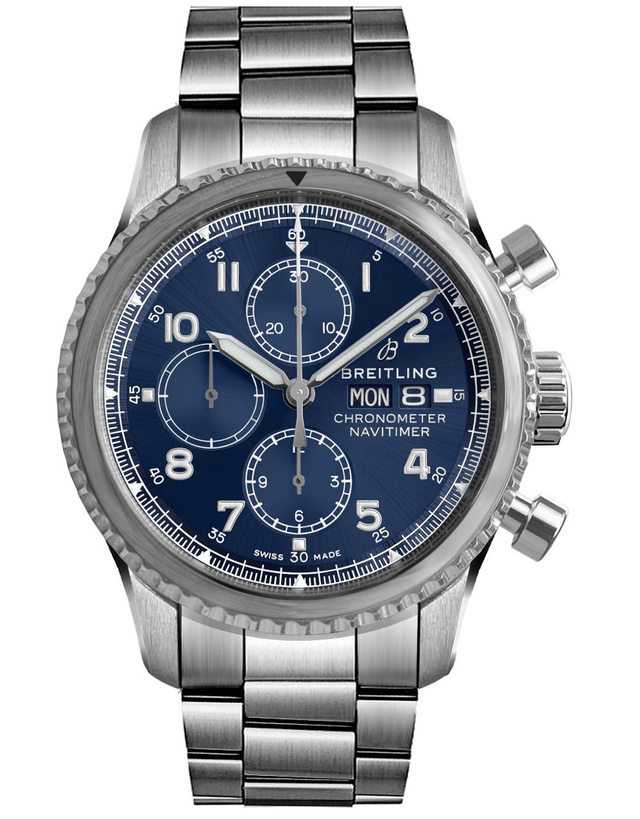 Breitling Navitimer 8 Chronograph 43 Blue Dial Stainless Steel Men's Watch
