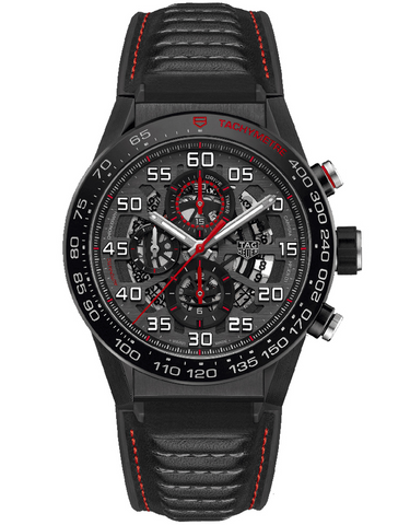 Tag Heuer Carrera Calibre Heuer 01 Black Skeleton Dial Men's Watch