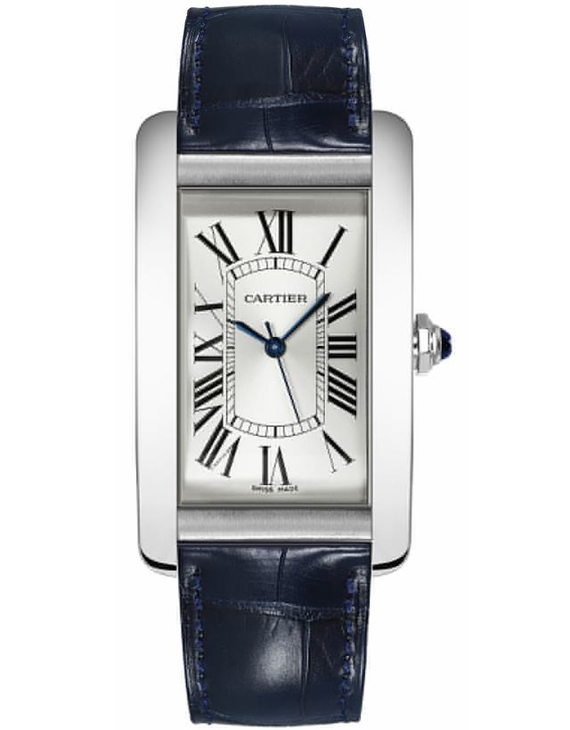 Cartier Tank Americaine Silver Dial Men's Casual Watch