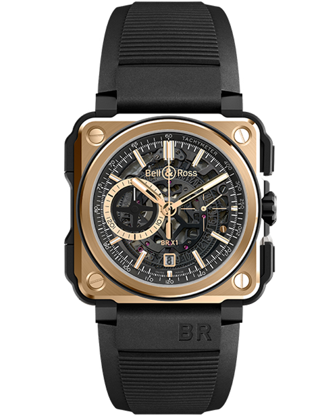 BELL & ROSS BR-X1 ROSE GOLD & CERAMIC LIMITED EDITION MEN'S WATCH