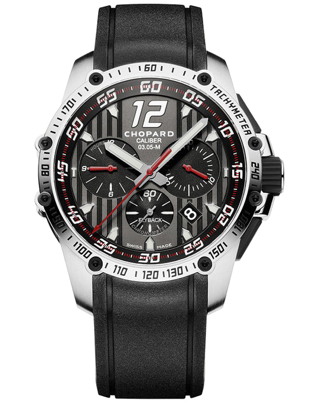 Chopard Classic Racing Superfast Chronograph Automatic Rubber Strap Men's Watch