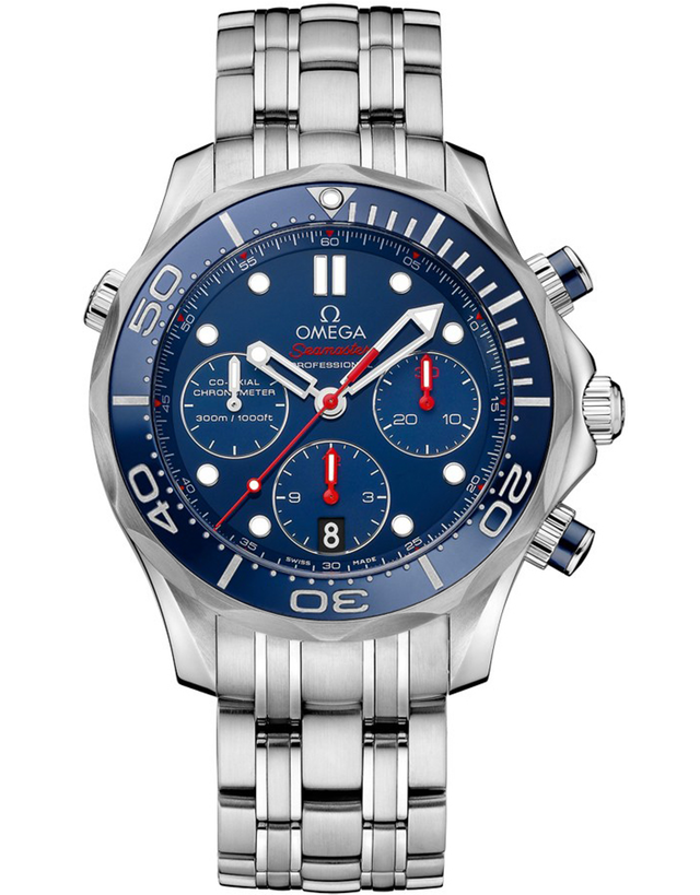 Omega Seamaster 41mm Co-Axial Chronograph Men's Watch