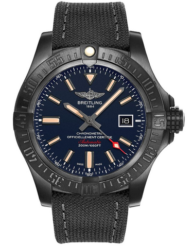 Breitling Avenger Blackbird Blue Dial Limited Edition Men's Watch