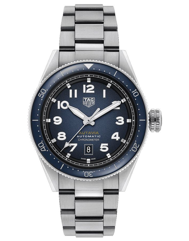 Tag Heuer Autavia Automatic Smoky Blue Dial Watch
