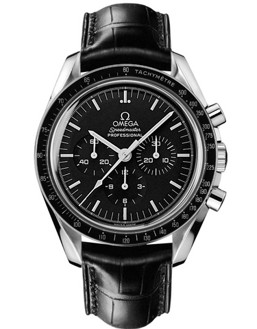 OMEGA SPEEDMASTER PROFESSIONAL MOONWATCH FIRST WATCH WORN ON MOON LEATHER STRAP MEN'S WATCH