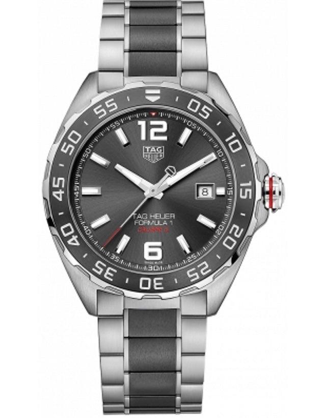 Tag Heuer Formula 1 Automatic 200M Calibre 5 43Mm Anthracite Sunray Dial Ceramic & Steel Men's Watch