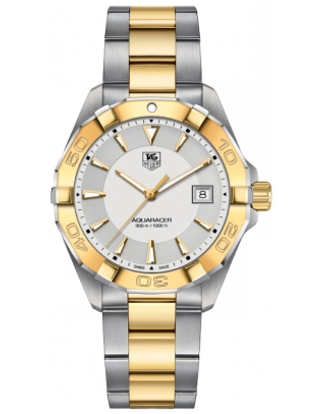 Tag Heuer Aquaracer 300M 40.5Mm Steel & Yellow Gold Plated Men's Watch