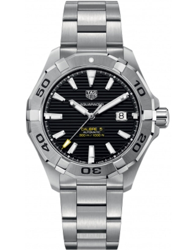 Tag Heuer Aquaracer 300M Automatic Black Dial Steel Band Men's Watch