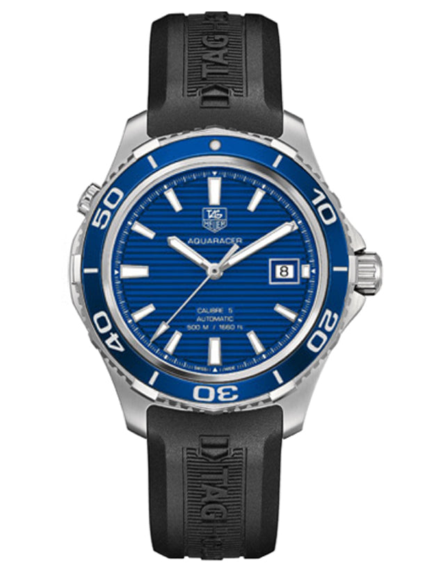 TAG HEUER AQUARACER 500M AUTOMATIC BLUE CERAMIC BEZEL MEN'S WATCH