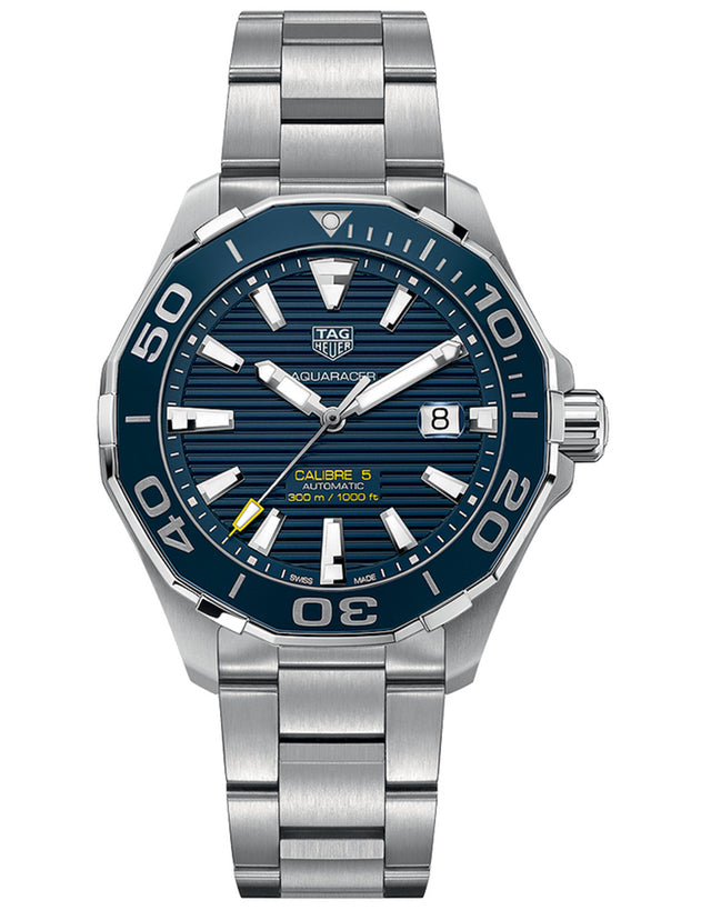 TAG HEUER AQUARACER 300M AUTOMATIC BLUE DIAL MEN'S WATCH
