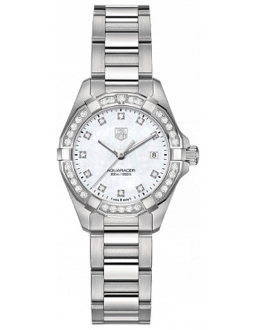 TAG HEUER AQUARACER 300M 27MM MOTHER OF PEARL DIAMOND WOMEN'S WATCH