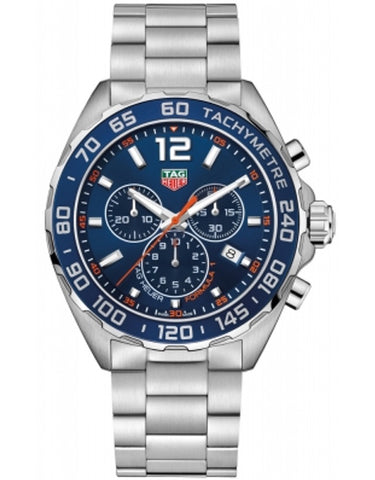 Tag Heuer Formula 1 Quartz Chronograph Blue Dial Steel Men's Watch