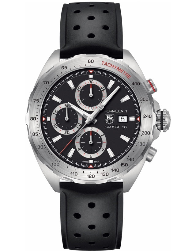TAG HEUER FORMULA 1 AUTOMATIC CALIBRE 16 CHRONOGRAPH RUBBER STRAP MEN'S WATCH