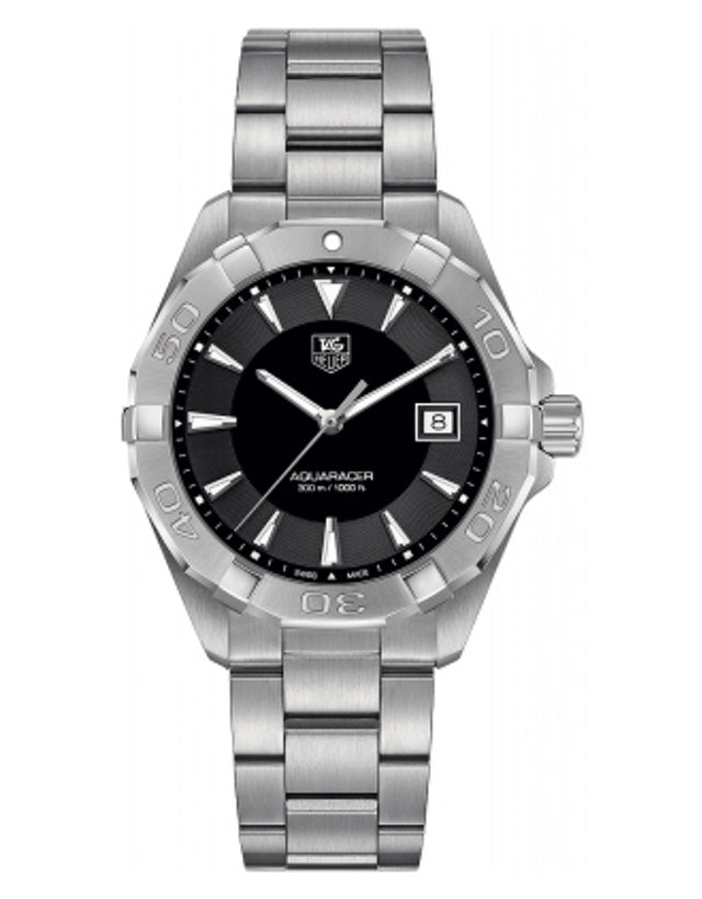 TAG HEUER AQUARACER 300M 40.5MM BLACK DIAL STEEL MEN'S WATCH