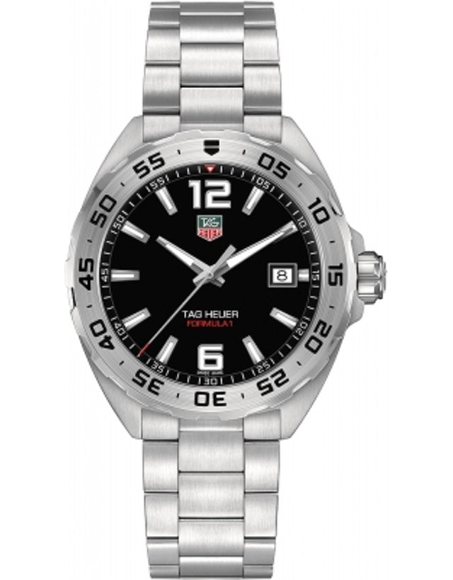 Tag Heuer Formula 1 Quartz Black Dial Silver Bezel Men's Watch