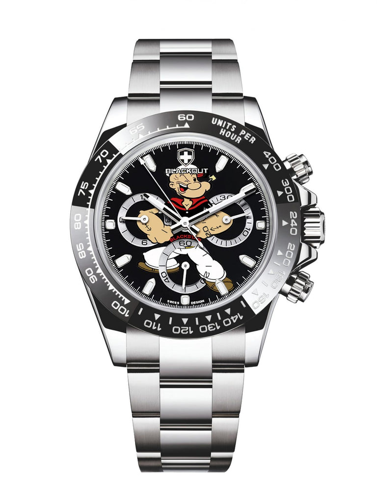 Blackout Concept Blackstar H5 Popeye Limited Series Men's Watch