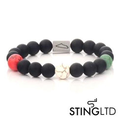 Matt Onyx and Mixed Natural Beads Stainless Steel Beaded Bracelet