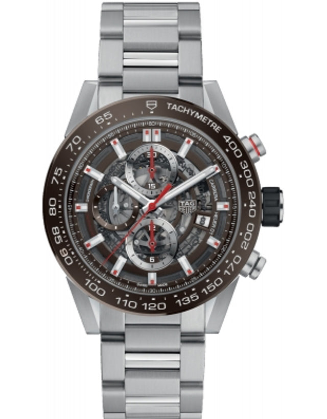 Tag Heuer Carrera Automatic Chronograph Skeleton Dial Men's Watch