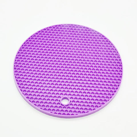 18cm Round Silicone Non-slip Heat Resistant Placemat Pot Holder Kitchen Accessories