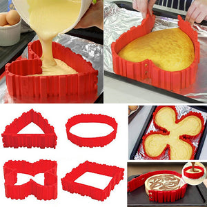 Flexible DIY Silicone Cake Mold home decor kitchen US Canada