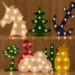 LED Night Light 3D Novelty Lamp US Canada
