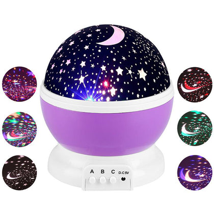 Starry Sky Night Light LED Lamp Kids Bedroom Projector Lamp US Canada