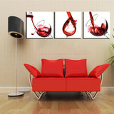 Canvas Print Modern Wall Art Picture Red Wine Abstract Frameless US CA Canada Australia New zealand