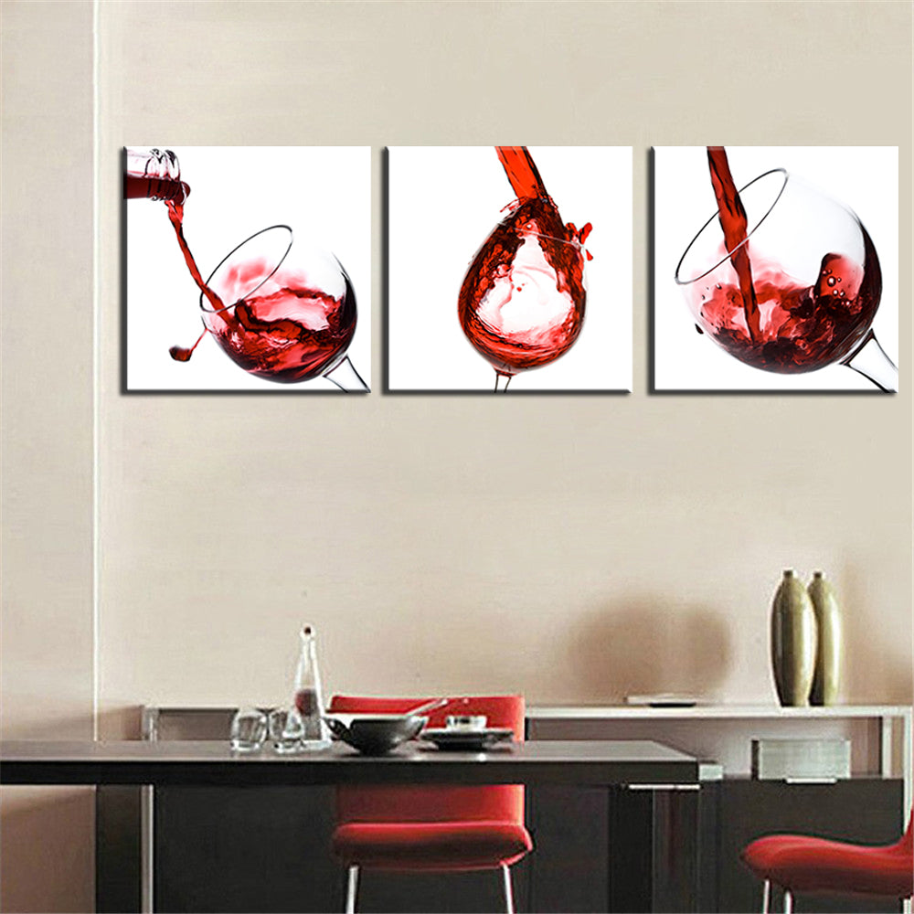 Canvas Print Modern Wall Art Picture Red Wine Abstract Frameless home decor kitchen US Canada
