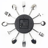 Wall Clock Sliver Cutlery Clocks Spoon Fork US CA Canada Australia New zealand