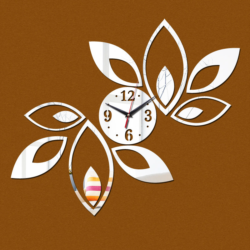 Wall Clock DIY Acrylic Mirror Flower Petals US Canada