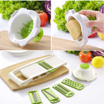 Vegetables Cutter tools with 5 Blade Carrot Grater Onion Vegetable Slicer US Canada