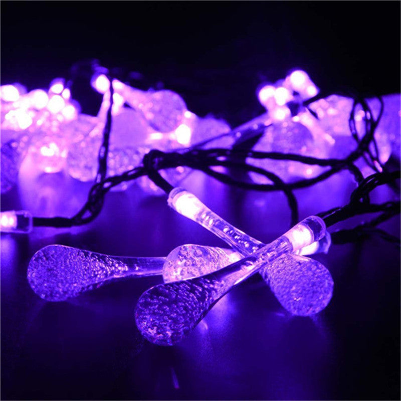 6m 30pcs led solar christmas lights water drop fairy string lights us canada