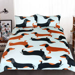Cute Dachshund Sausage Duvet Cover Bedding Set US Canada