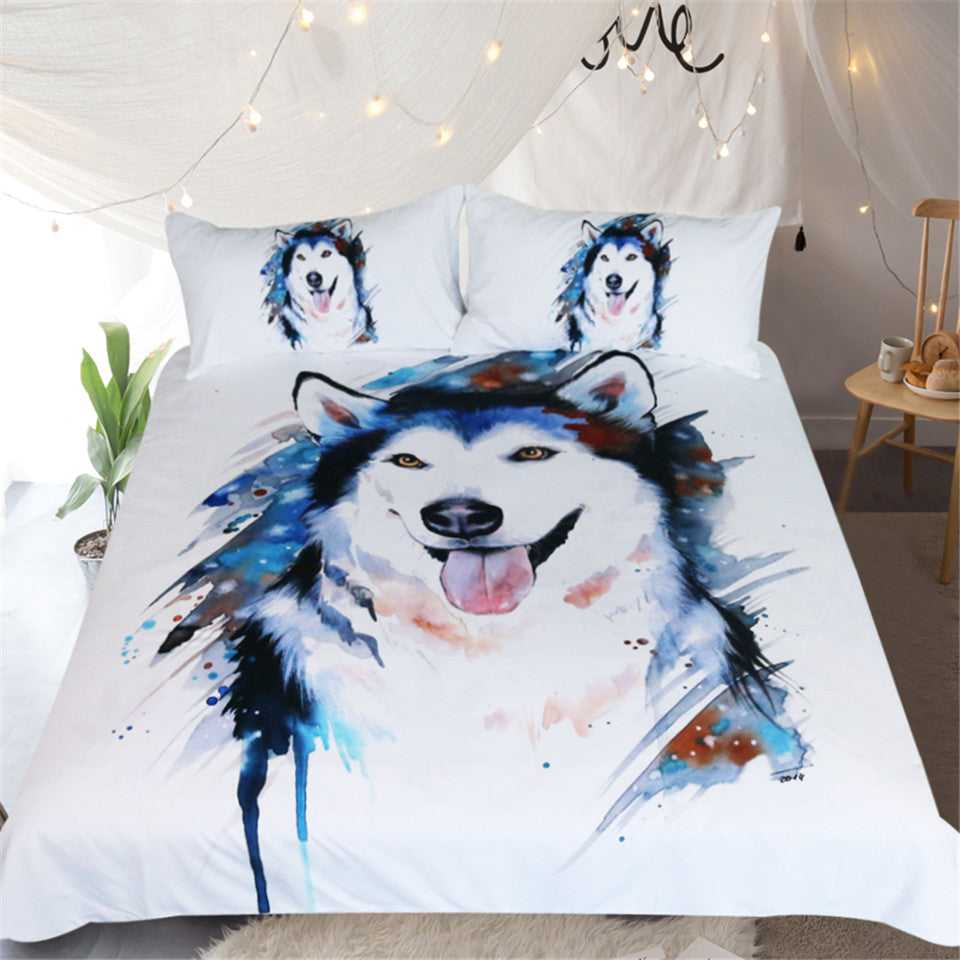 Husky by Pixie Cold Art Bedding Set Duvet Cover US Canada