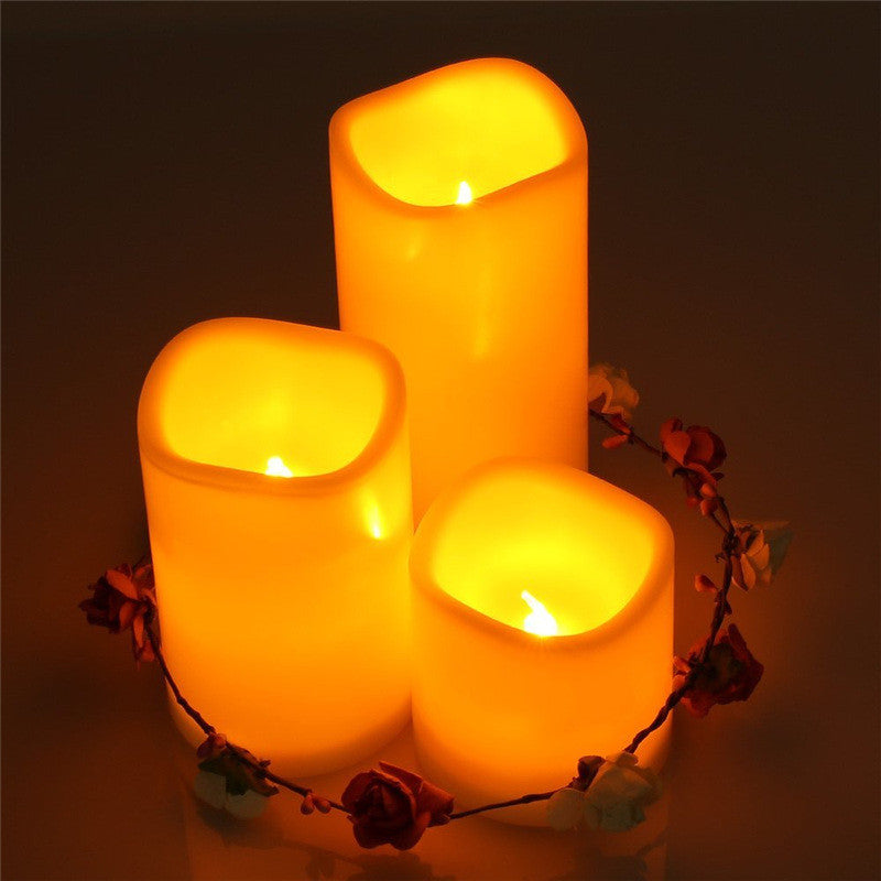 LED Light 3Pcs/set Remote Controled Flameless Candle home decor kitchen US Canada