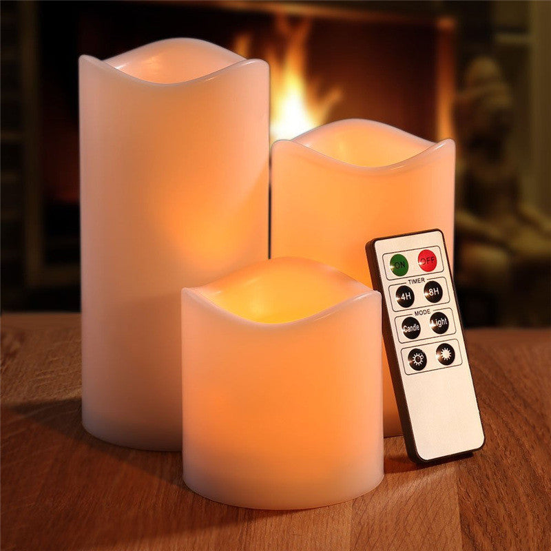 LED Light 3Pcs/set Remote Controled Flameless Candle US Canada