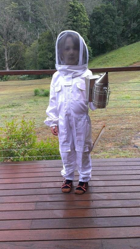 Unbleached Organic Cotton PREMIUM Beekeeping Overalls Bee Suit Childrens Size