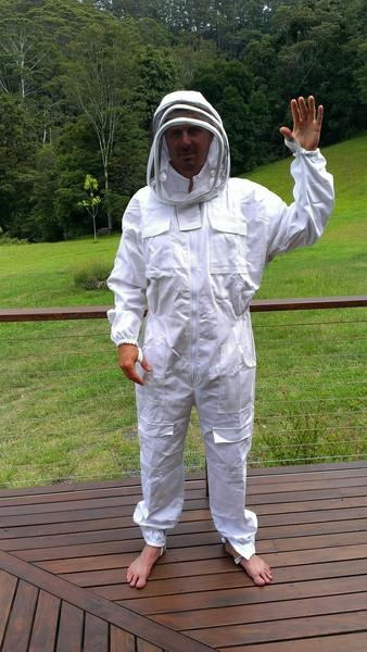 Unbleached Organic Cotton PREMIUM Beekeeping Overalls Bee Suit Adult Size