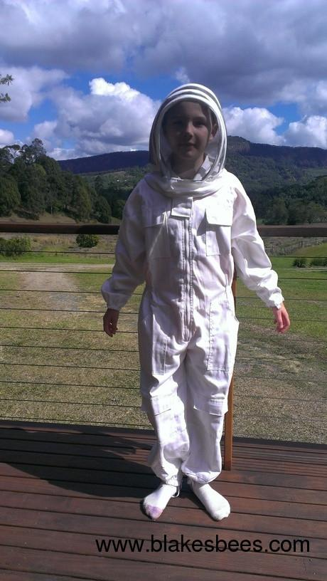 KIDS SIZE GIRLS PREMIUM Beekeeping Overalls Bee Suit - Conventional Cotton