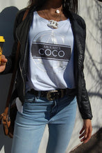 COCO Slogan Tee Grey Foil or Rose Gold Foil