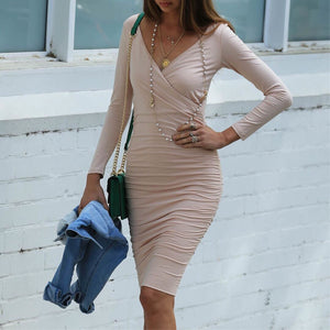Off The Wall Midi Dress, Nude and Tan