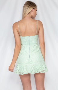 Thin Strap Lace Dress with Underwire Detail